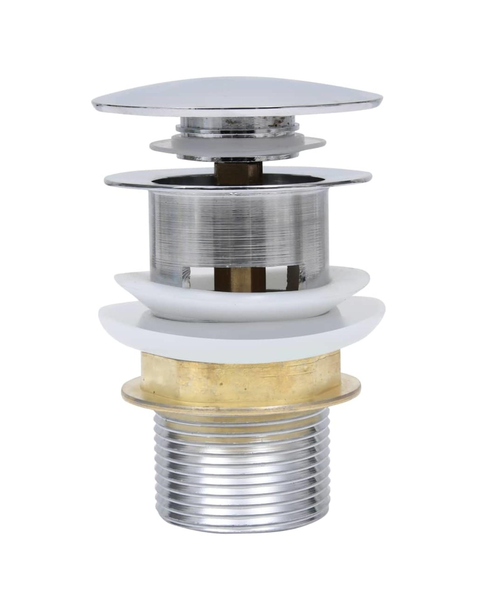Afvoer pop-up zonder overloop 6,4x6,4x9,1 cm nikkelkleurig