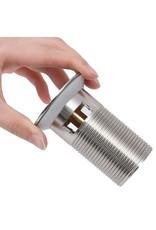 Afvoer pop-up met overloop 6,4x6,4x9,1 cm zilverkleurig