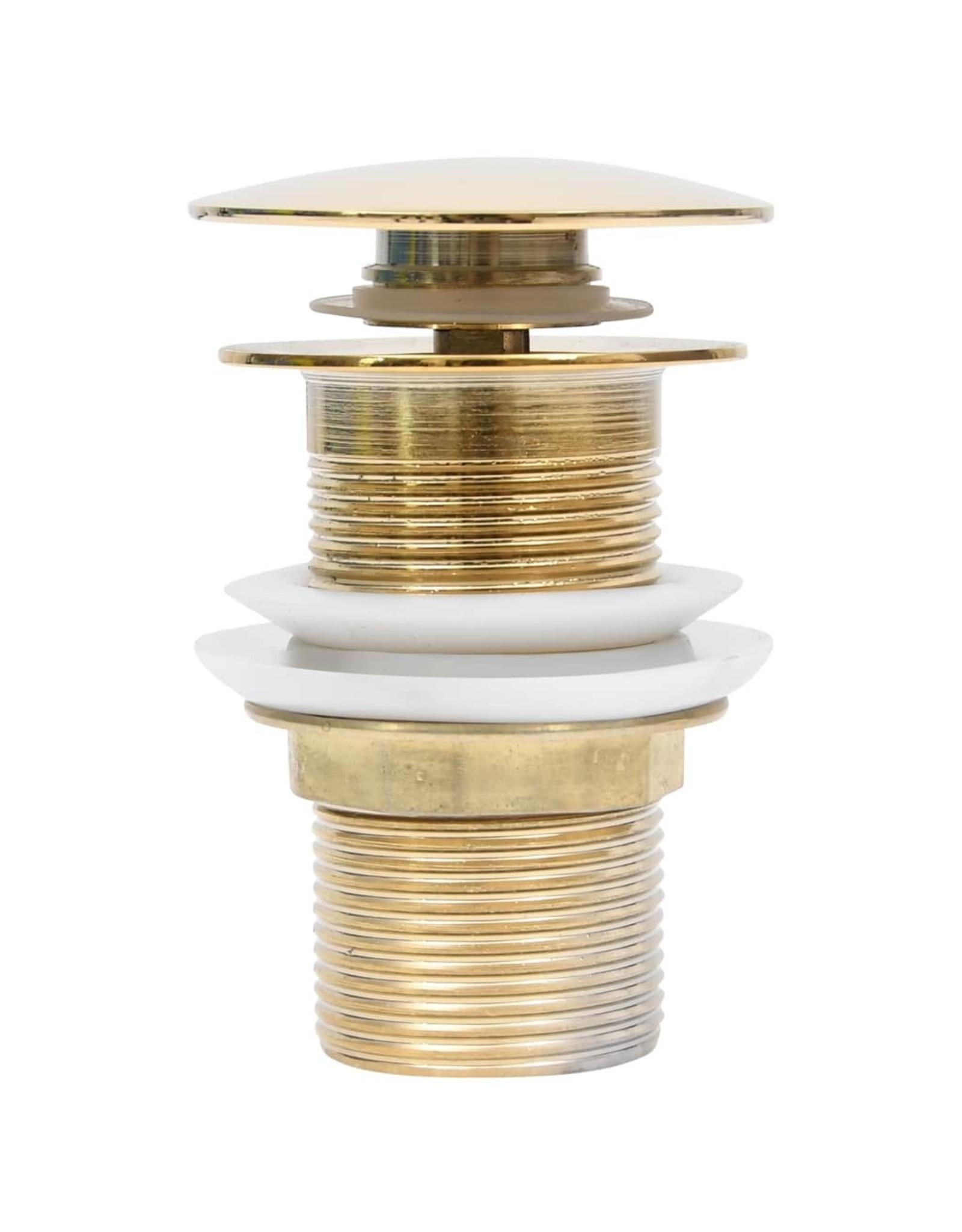 Afvoer pop-up zonder overloop 6,4x6,4x9,1 cm goudkleurig