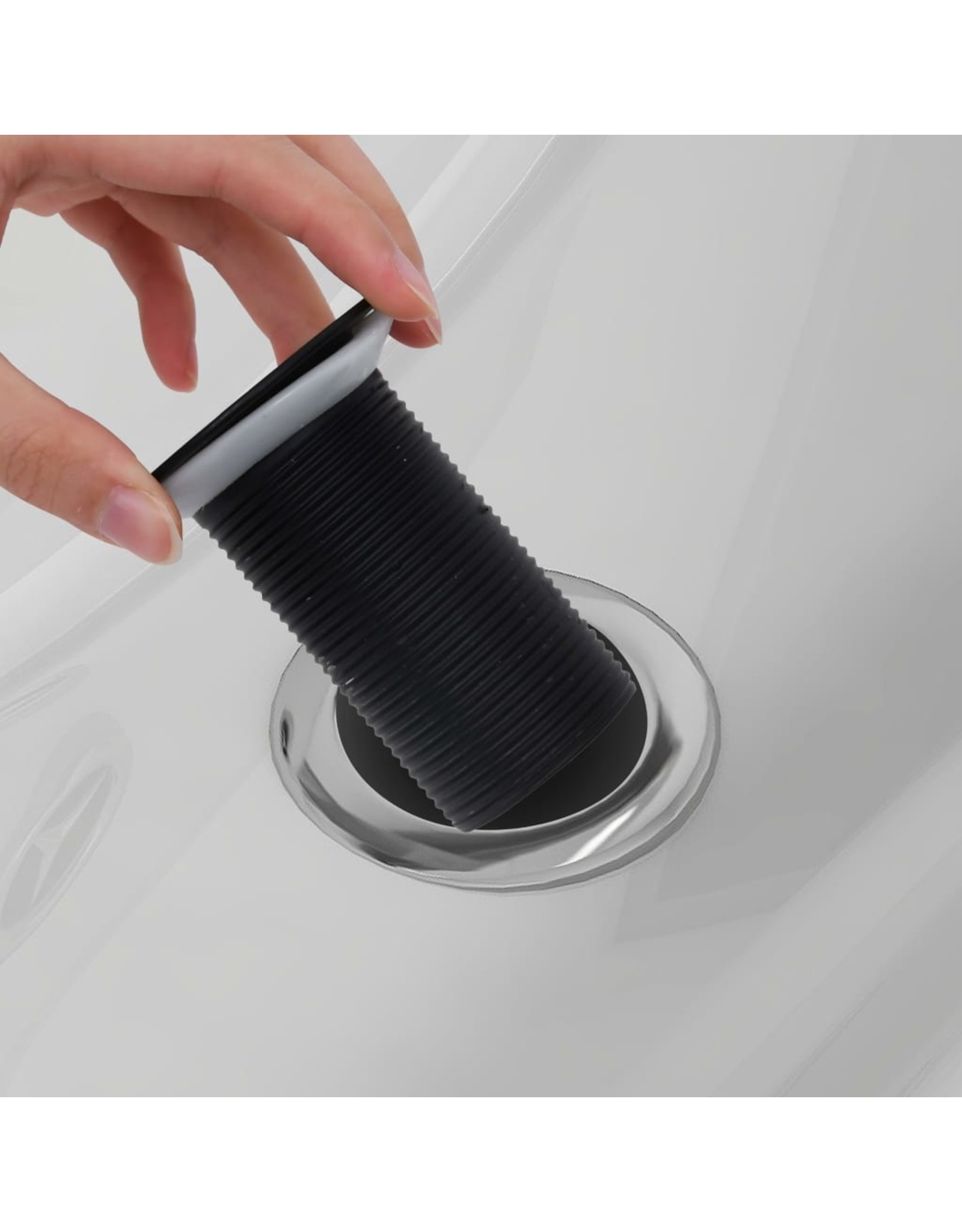 Afvoer pop-up zonder overloop 6,4x6,4x9,1 cm zwart