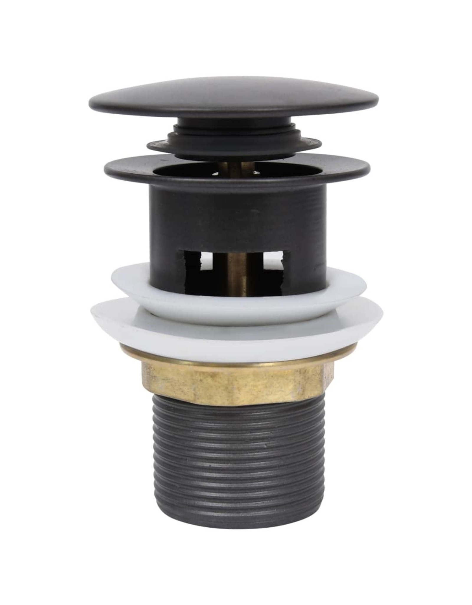 Afvoer pop-up met overloop 6,4x6,4x9,1 cm grijs