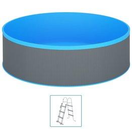 Splasher pool met 4-tredige ladder 350x90 cm grijs