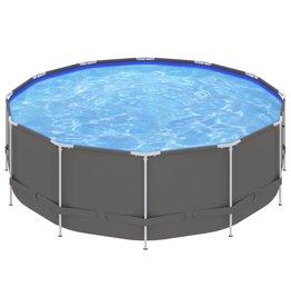 Zwembad met stalen frame 457x122 cm antracietkleurig
