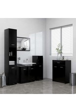 4-delige Badkamermeubelset zwart
