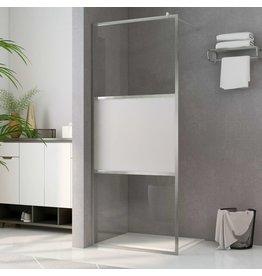 Inloopdouchewand halfmat 80x195 cm ESG-glas