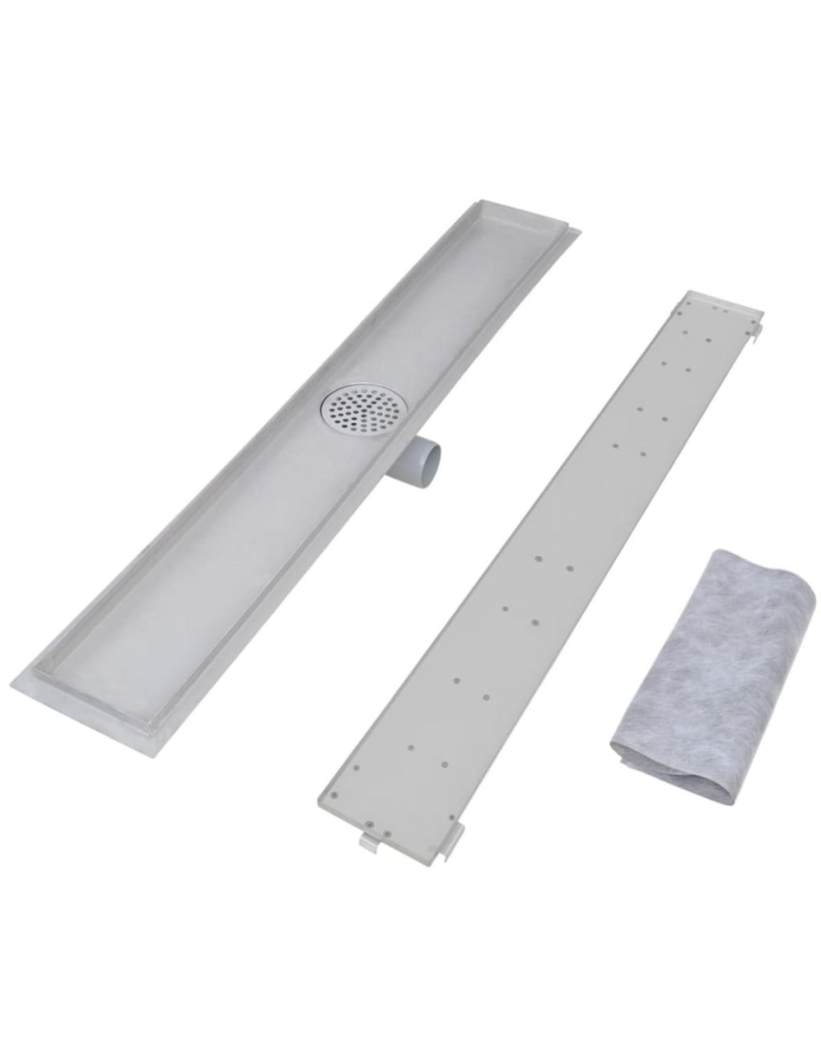 Doucheafvoer 2 st rechthoekig 930x140 mm roestvrij staal
