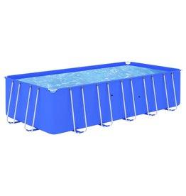 Zwembad met stalen frame 540x270x122 cm blauw