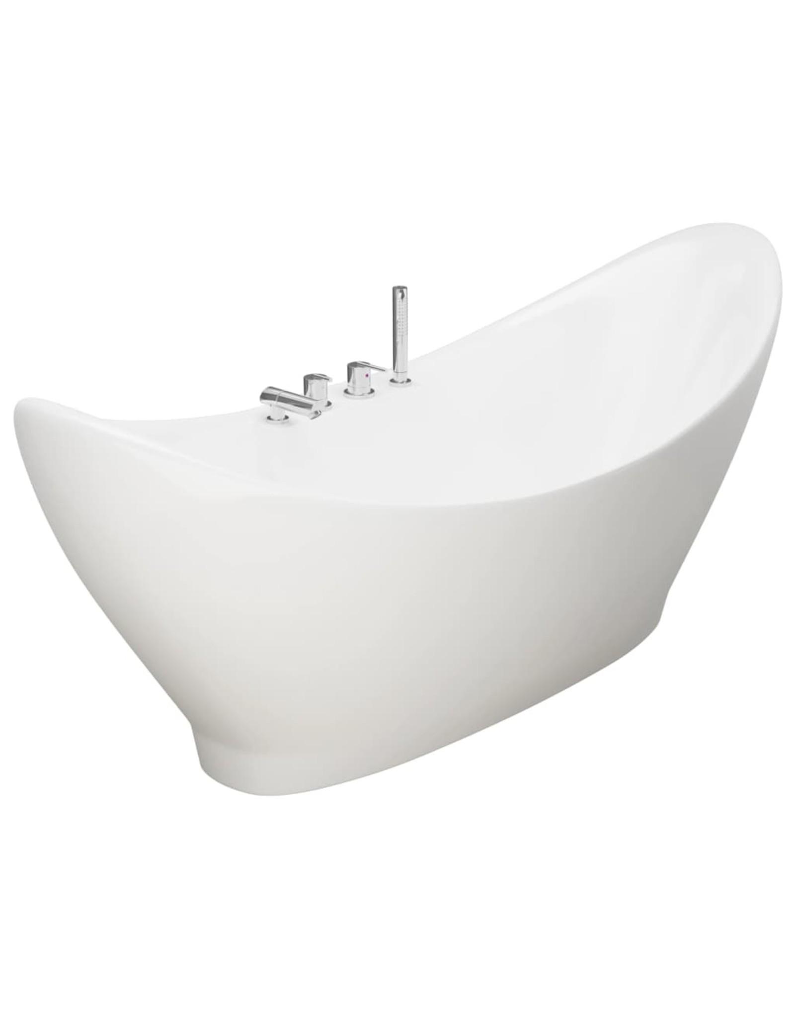 Badkuip vrijstaand met kraan 183 L acryl wit