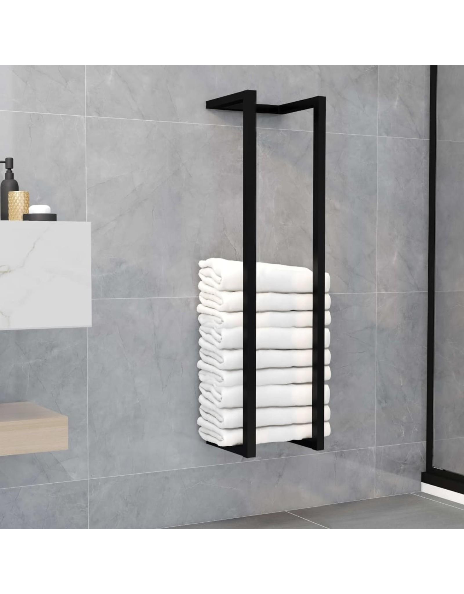 Handdoekenrek 25x20x95 cm ijzer zwart
