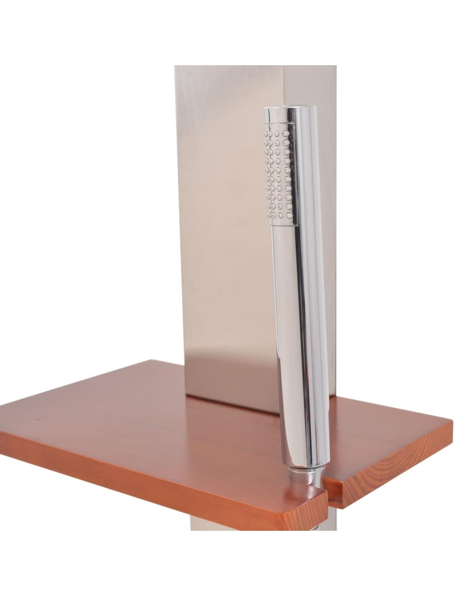 Buitendouche 210 cm geborsteld roestvrij staal