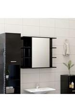 3-delige Badkamermeubelset spaanplaat hoogglans zwart