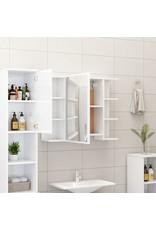 4-delige Badkamermeubelset spaanplaat hoogglans wit