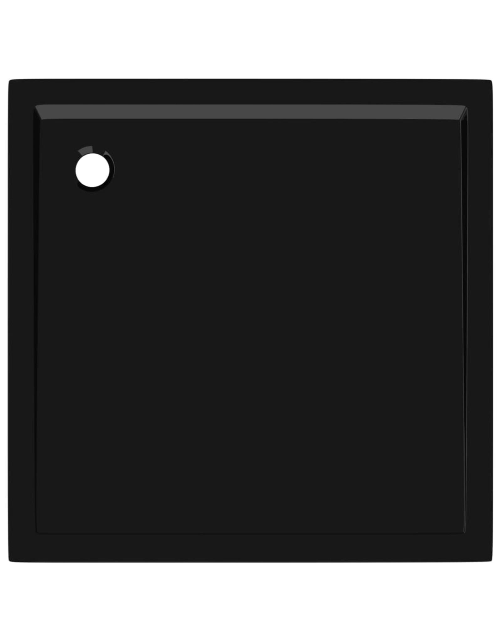 Douchebak vierkant 80x80 cm ABS zwart