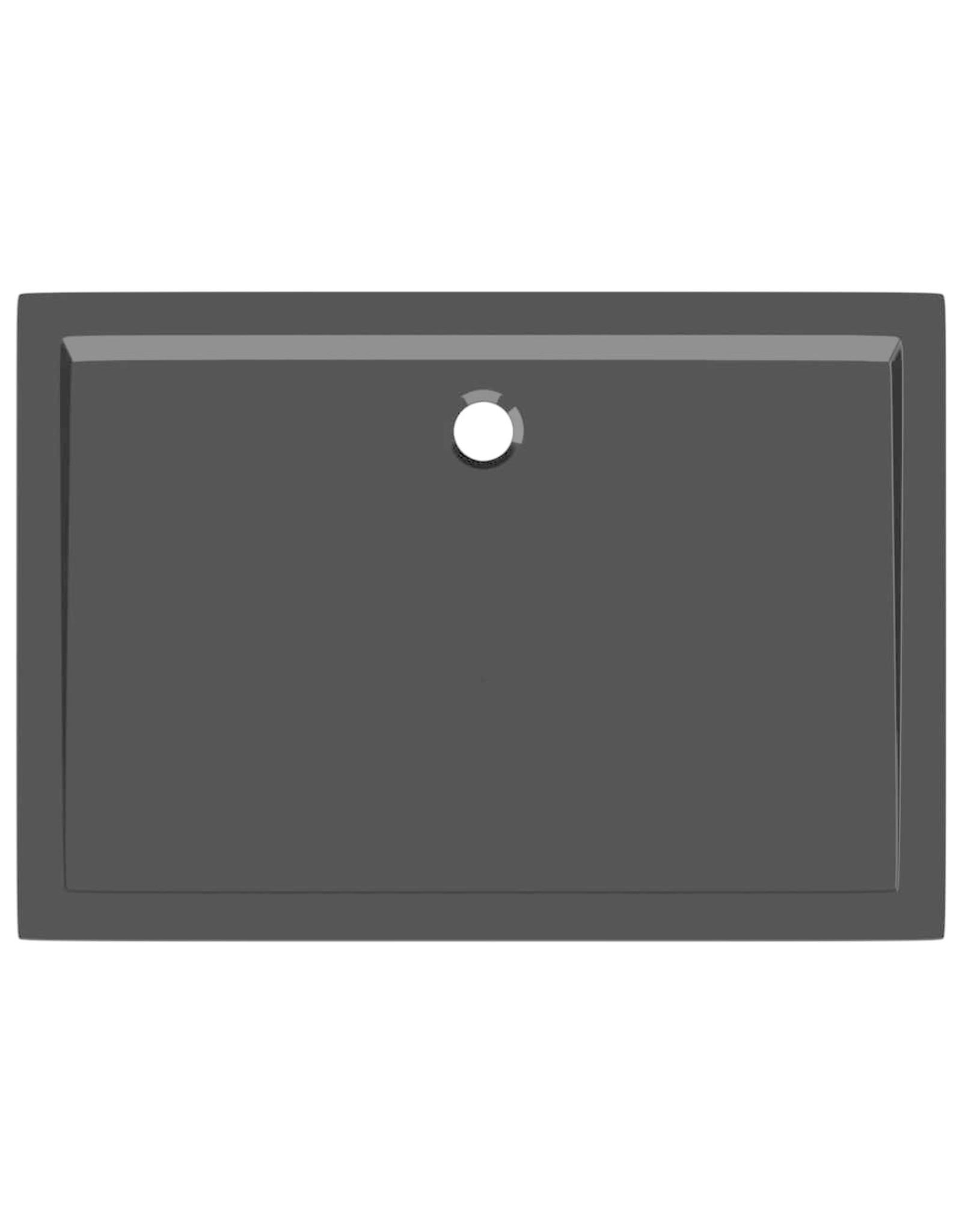 Douchebak rechthoekig 70x100 cm ABS zwart