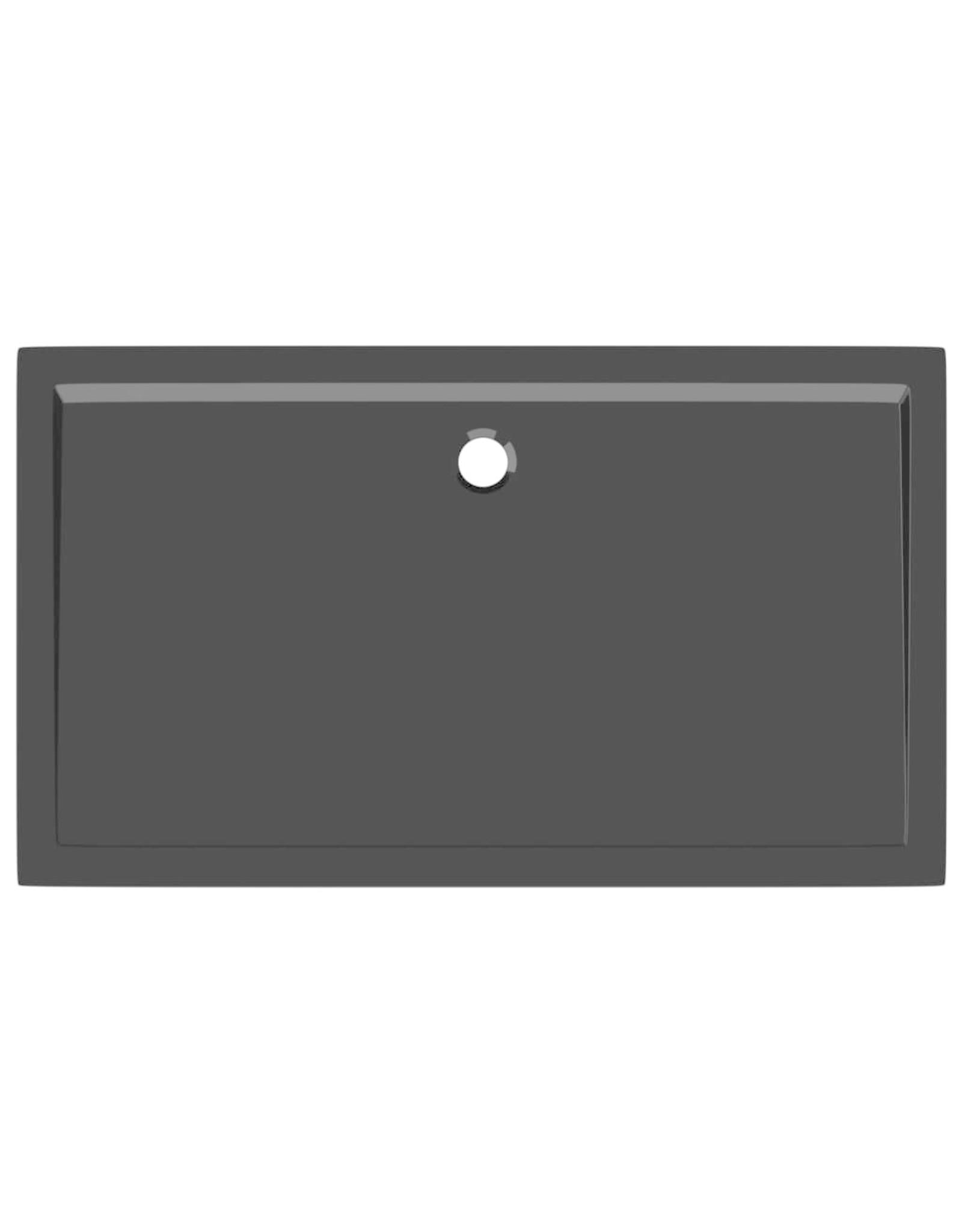 Douchebak rechthoekig 70x120 cm ABS zwart