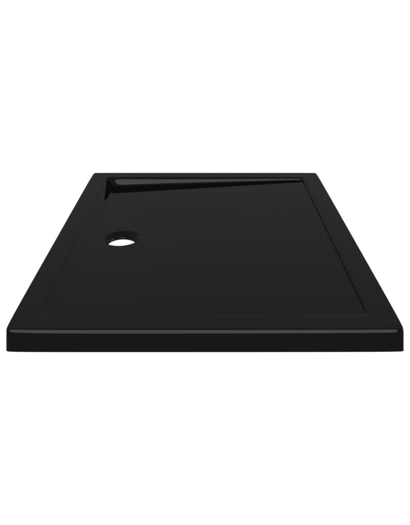 Douchebak rechthoekig 80x100 cm ABS zwart
