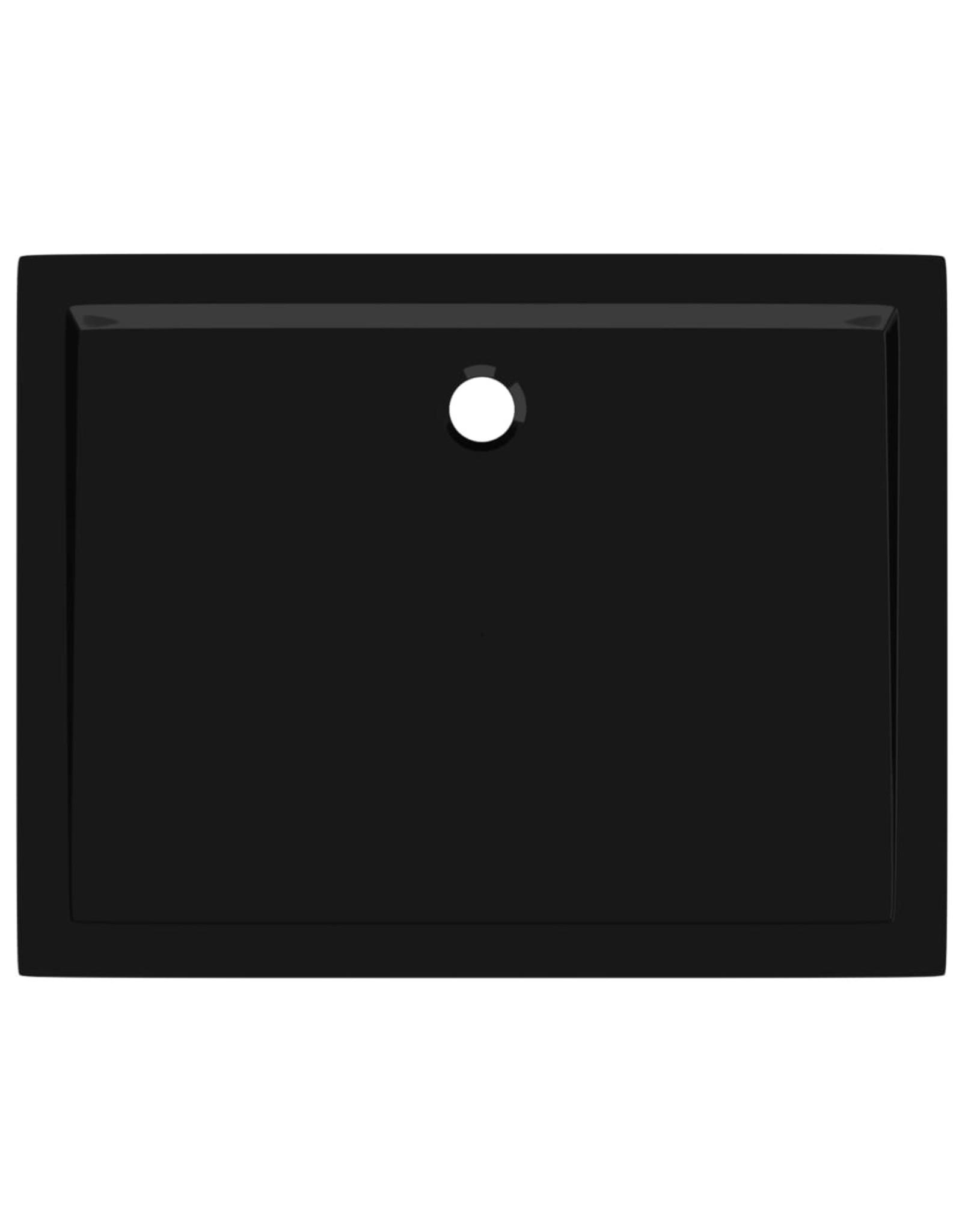 Douchebak rechthoekig 70x90 cm ABS zwart