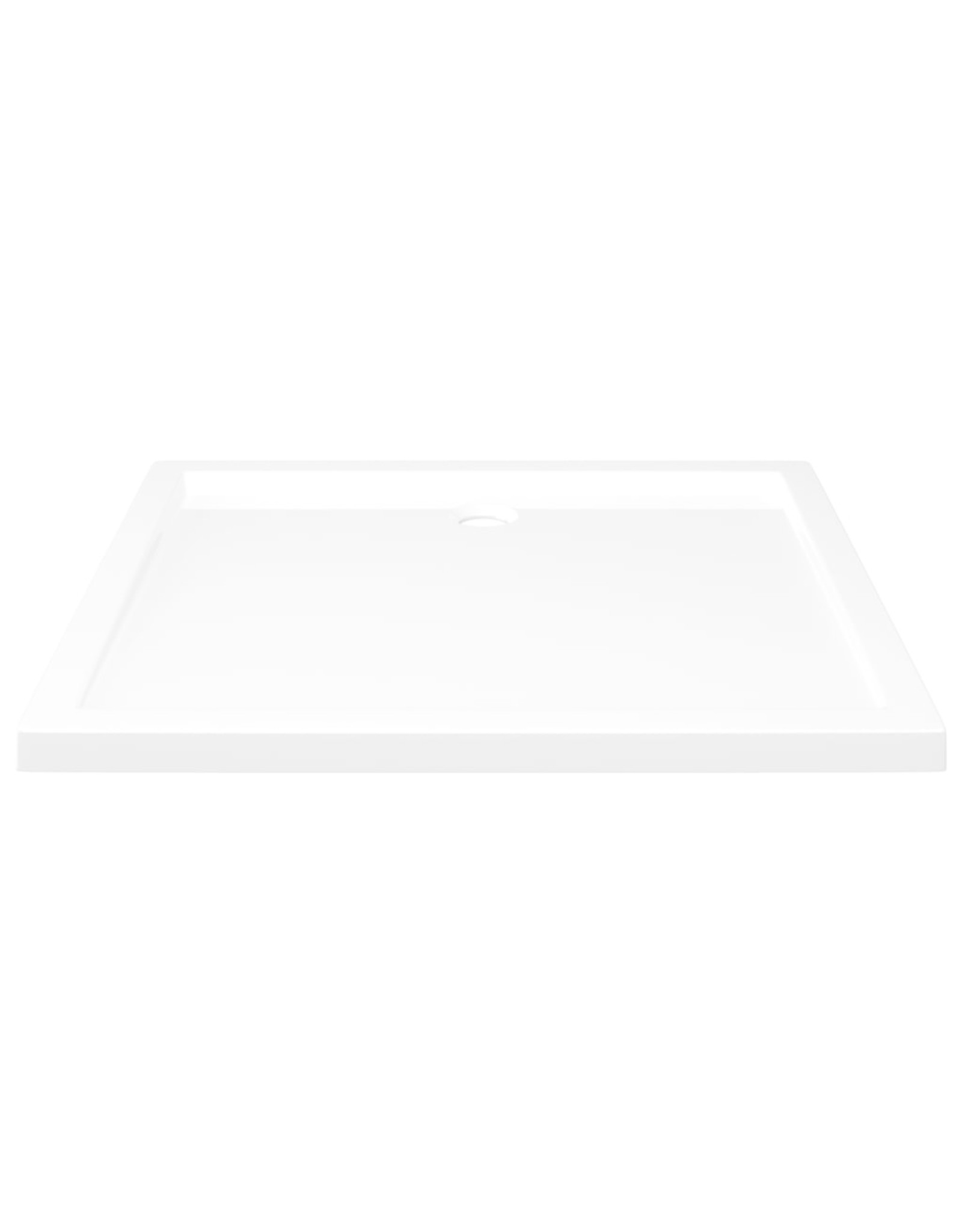 Douchebak rechthoekig 80x90 cm ABS wit