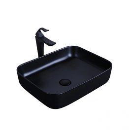 fabriecio Mat zwarte opbouw waskom Nice