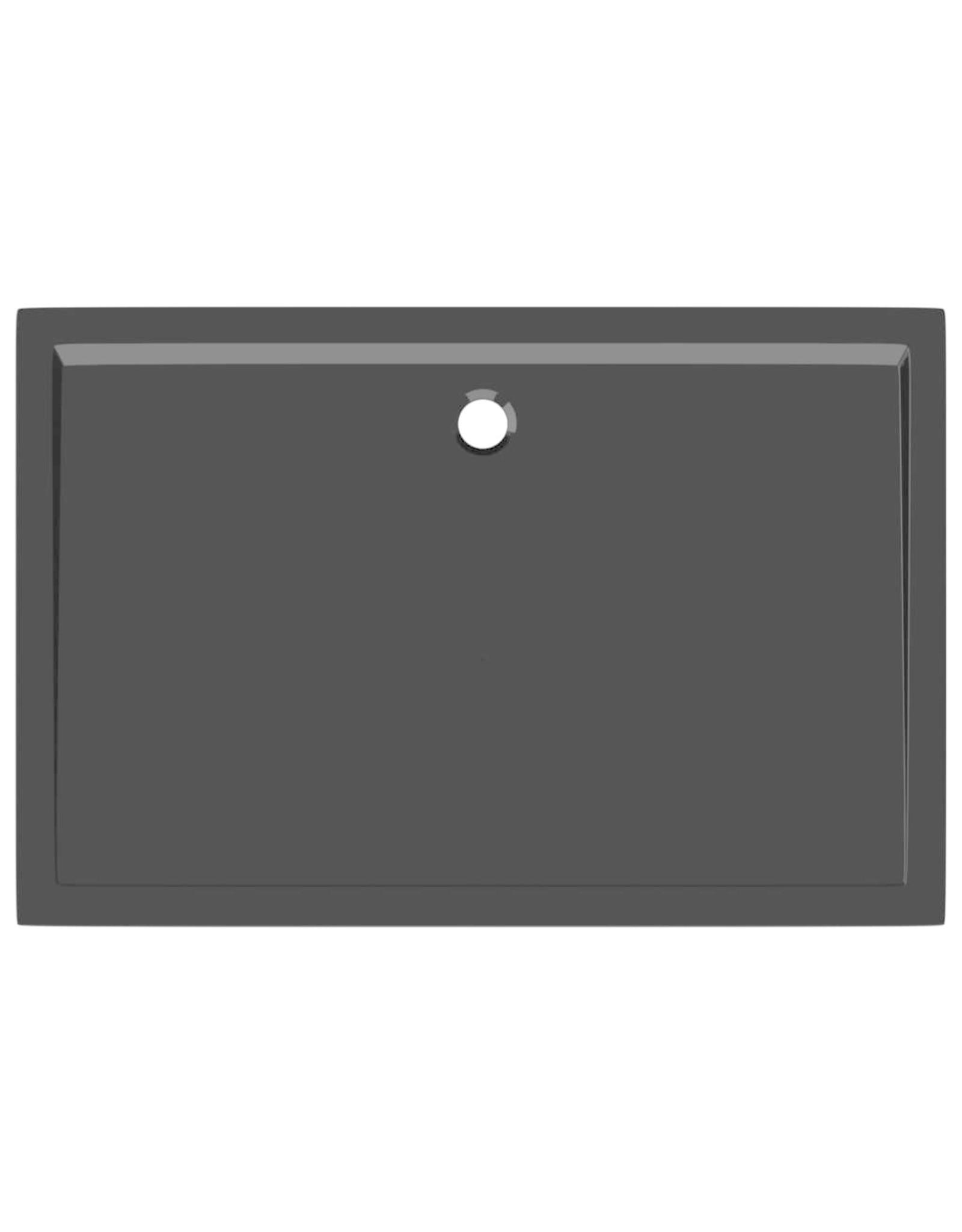 Douchebak rechthoekig 80x120 cm ABS zwart