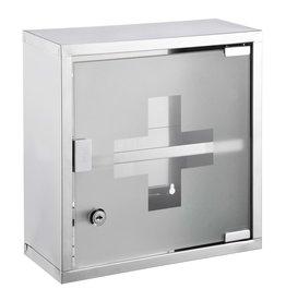Medicijnkast 30x12x30 cm roestvrij staal