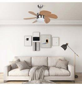 Plafondventilator met lamp 76 cm lichtbruin