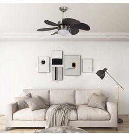 Plafondventilator met lamp 76 cm donkerbruin