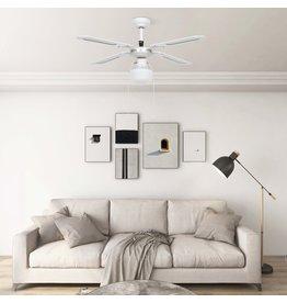 Plafondventilator met lamp 106 cm wit