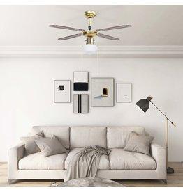 Plafondventilator met lamp 106 cm bruin