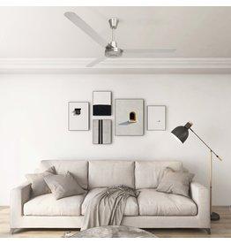 Plafondventilator 142 cm zilverkleurig