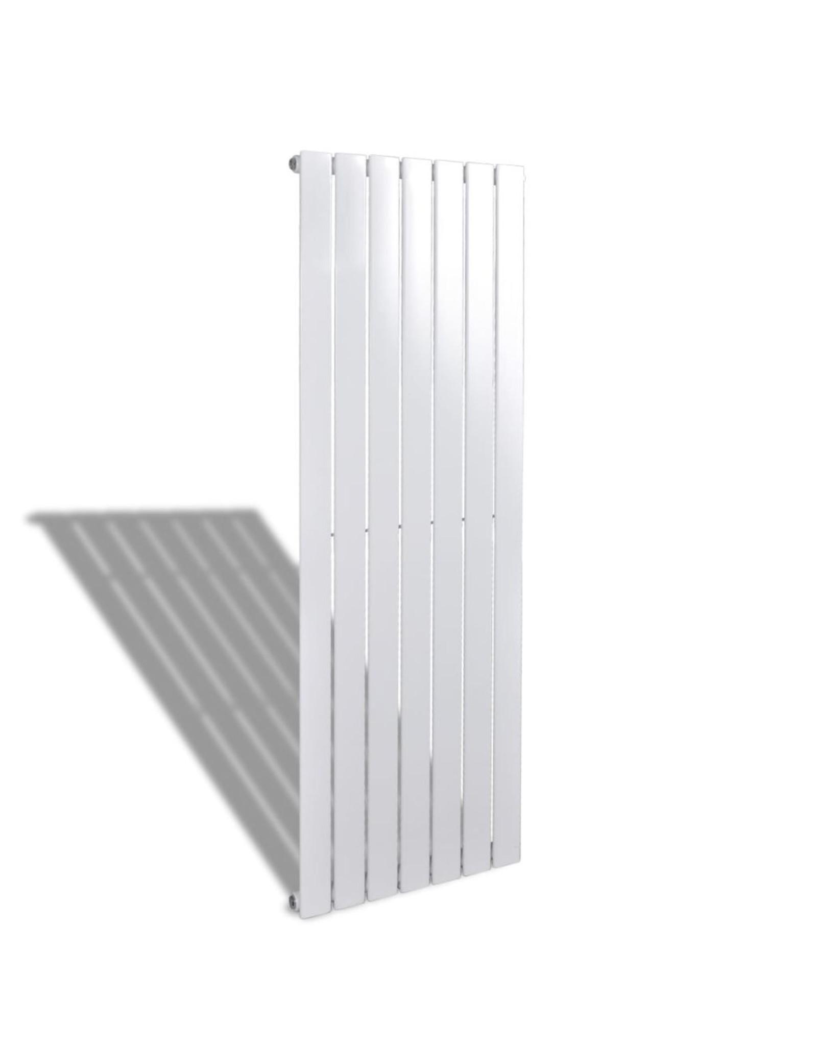 Enkele verwarmingsradiator wit 542 mm x 1500 mm plus handdoekrek