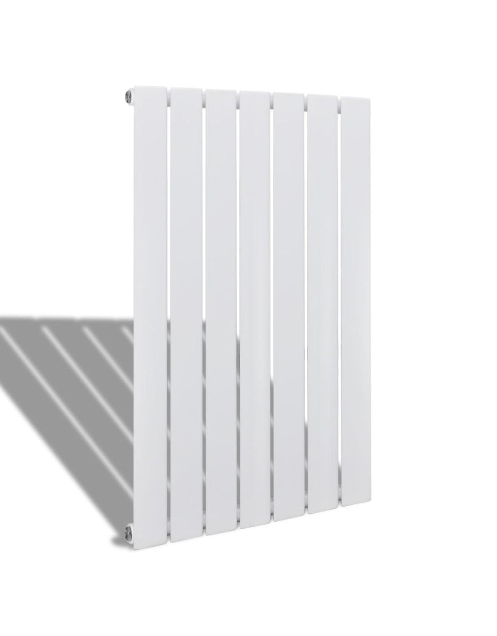 Enkele verwarmingsradiator wit 542 mm x 900 mm plus handdoekrek