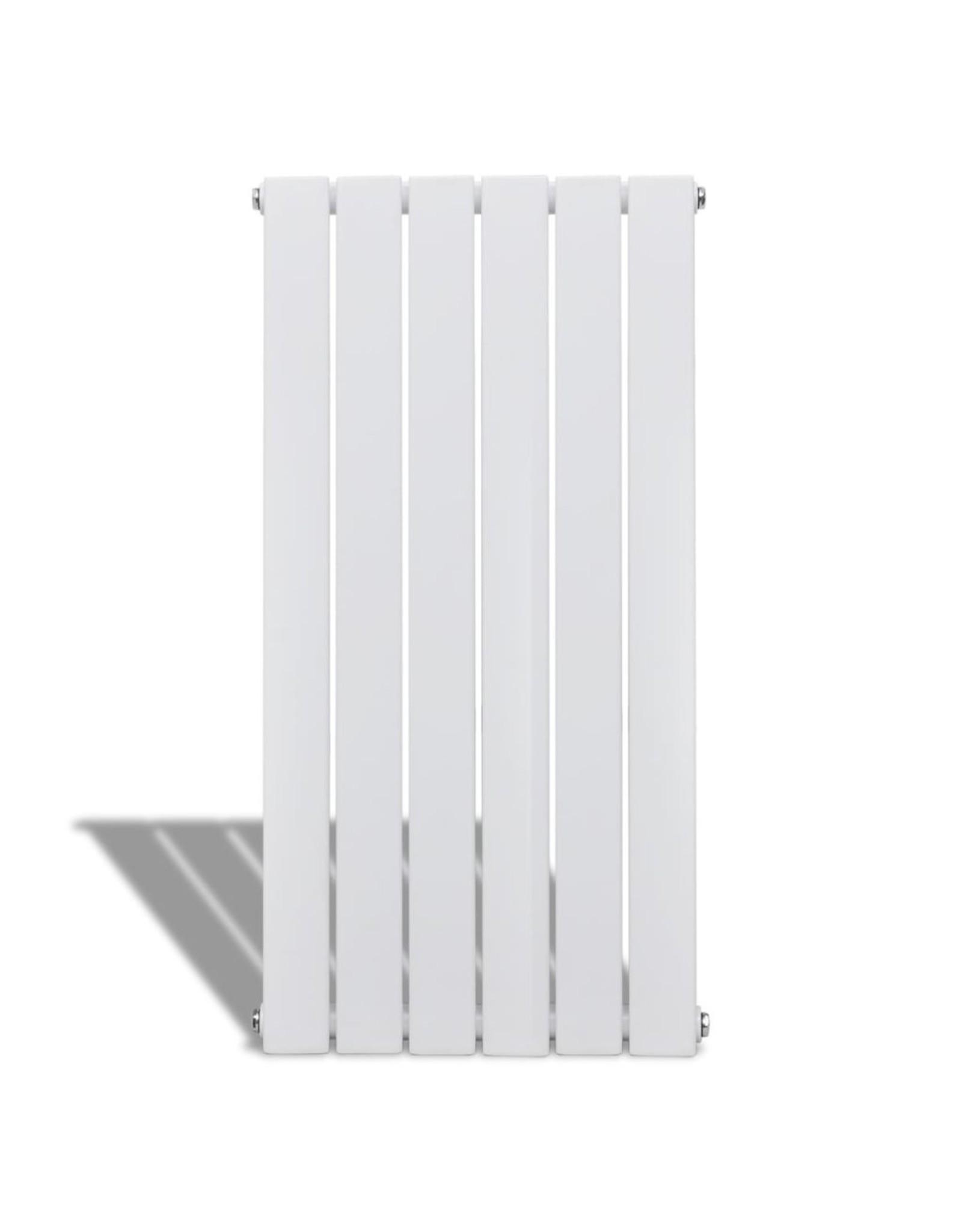 Enkele verwarmingsradiator wit 465 mm x 900 mm plus handdoekrek