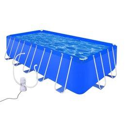 Zwembad met pomp 540x270x122 cm staal