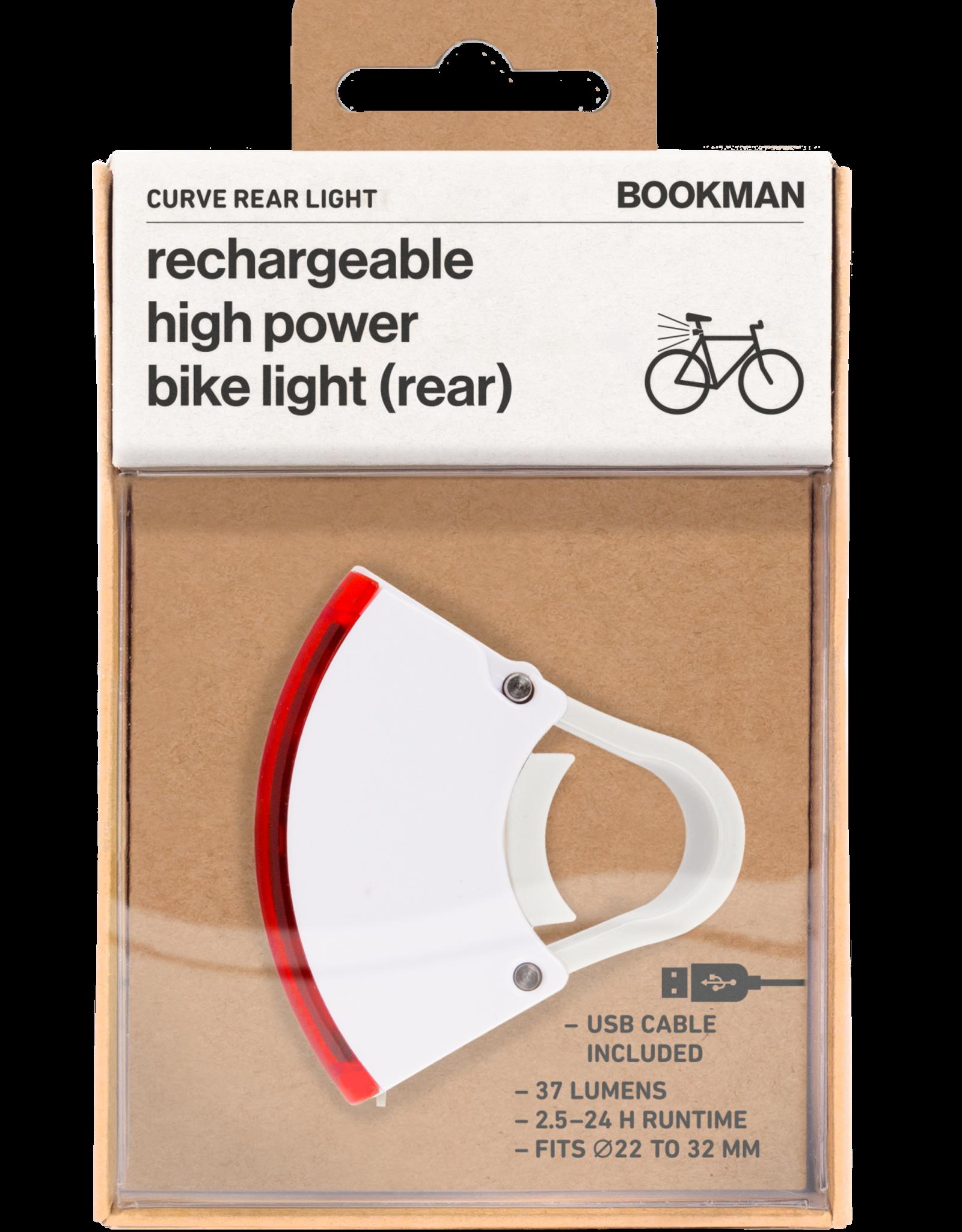 Bookman Curve rear light - white