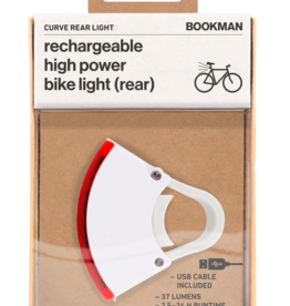 Bookman Curve rear light USB rechargeable  - white