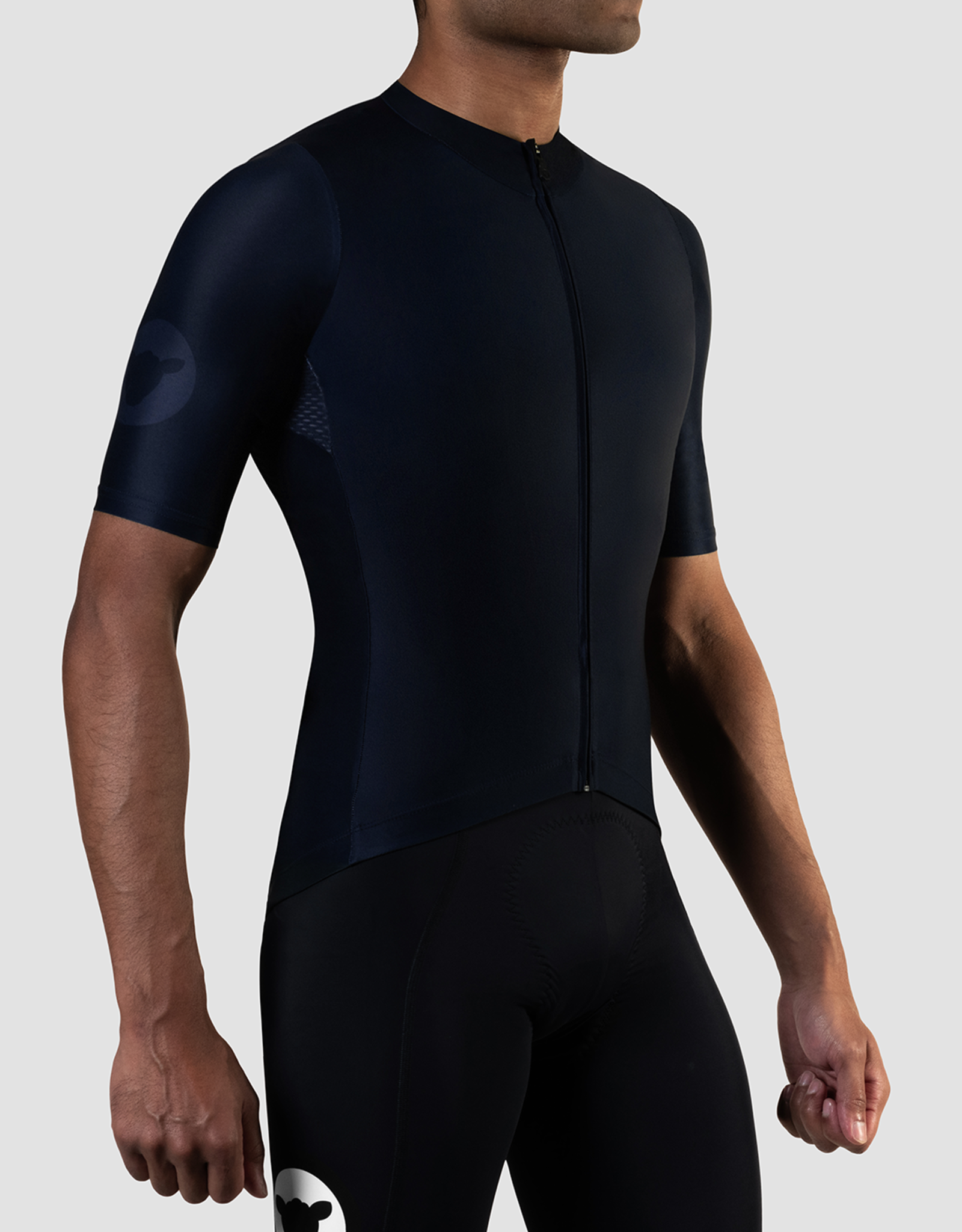 Black Sheep Cycling Men's TEAM Jersey with short sleeves - Block Midnight