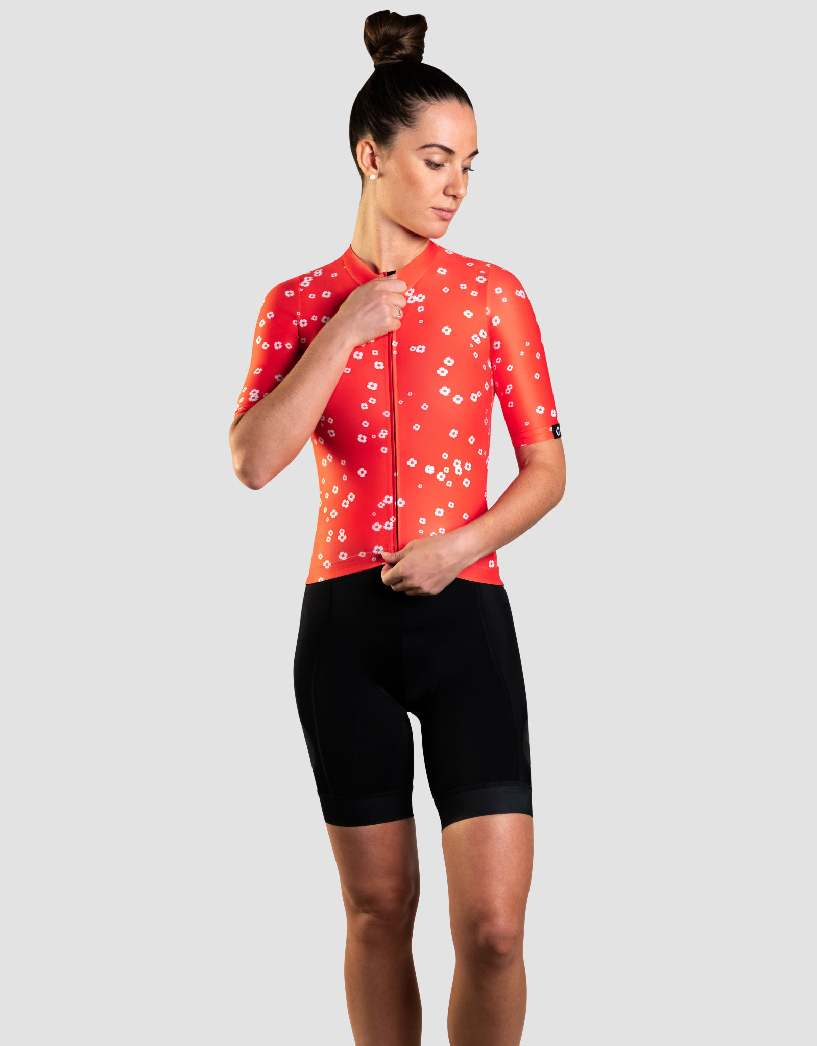 Black Sheep Cycling Women's TEAM jersey - Daisy Warm Red