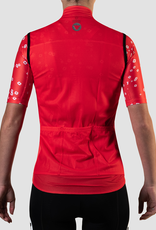 Black Sheep Cycling Women's TEAM Vest - Block Warm Red