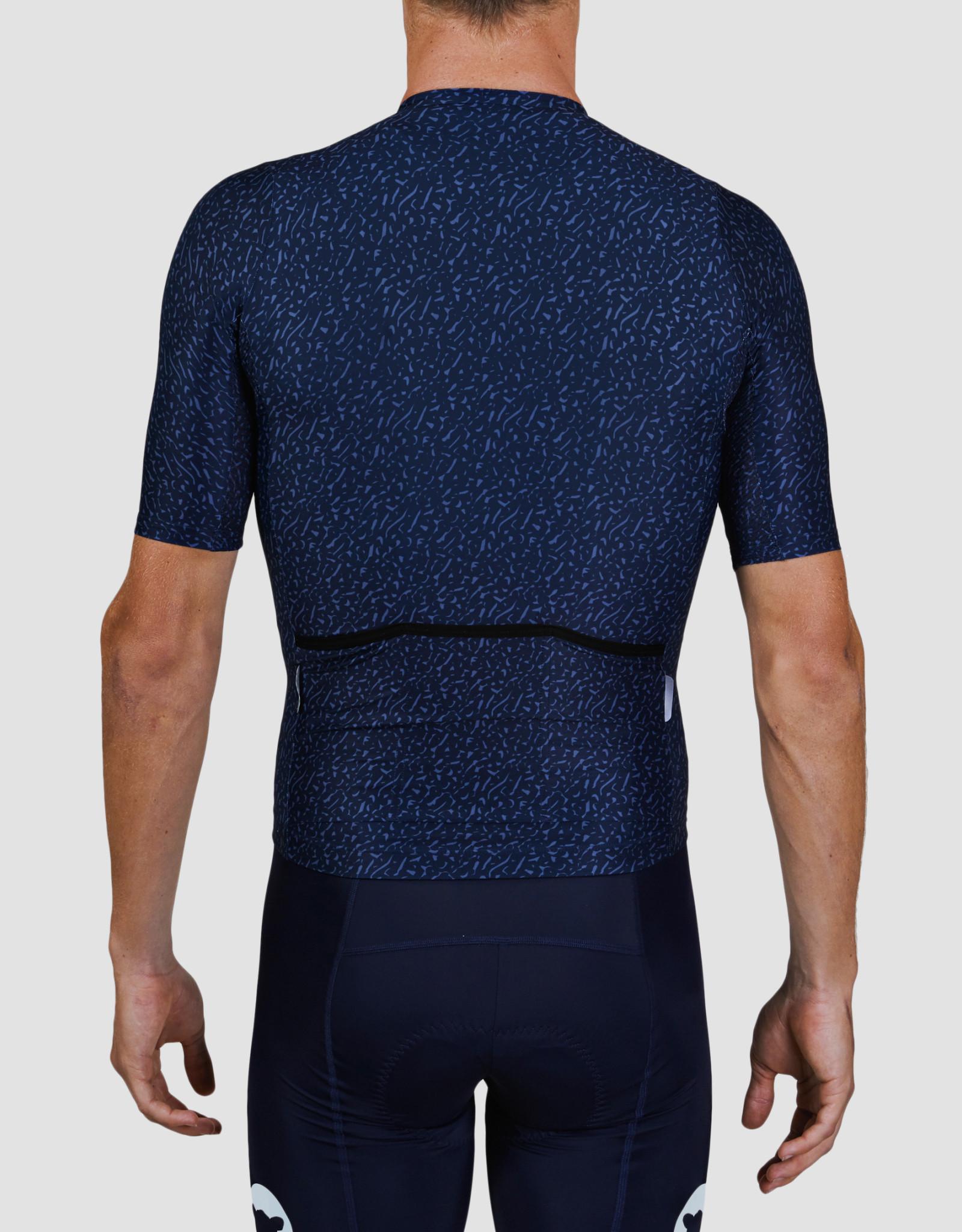 Black Sheep Cycling Men's Essentials TEAM jersey - Texture Midnight