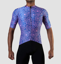 Black Sheep Cycling Men's LTD Tokyo Jersey - Seigaiha
