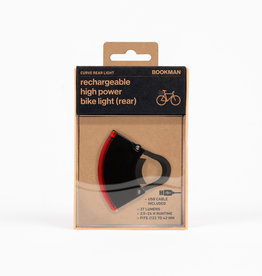 Bookman Curve rear light USB rechargeable  - black