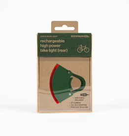 Bookman Curve rear light USB rechargeable  - green