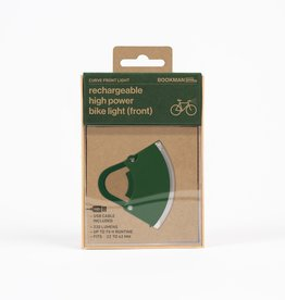 Bookman Curve front light USB rechargeable  - green