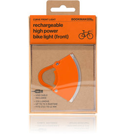 Bookman Curve front light USB rechargeable  - orange