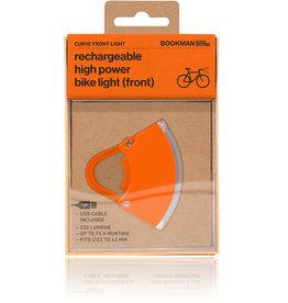 Bookman Curve USB-oplaadbaar voorlicht - oranje