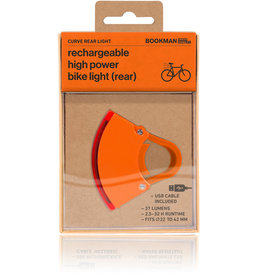 Bookman Curve rear light USB rechargeable  - orange