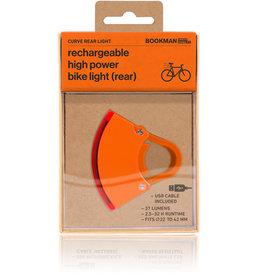 Bookman Curve USB-oplaadbaar achterlicht - oranje