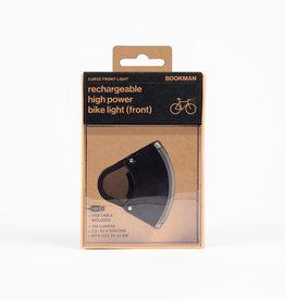 Bookman Curve USB-oplaadbaar voorlicht - zwart