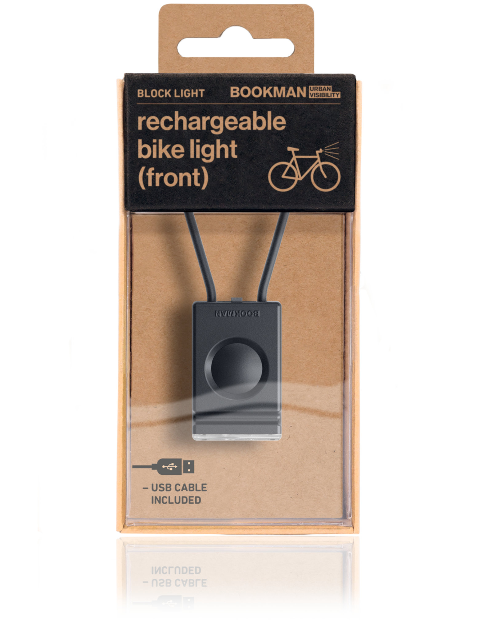 Bookman Block Light Front USB rechargeable